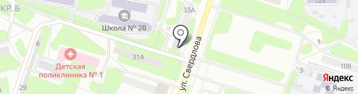 Пятисотка на карте Березников