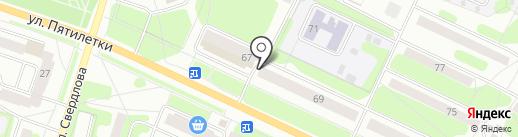 Аптека от склада на карте Березников