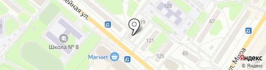Юбилейная на карте Березников