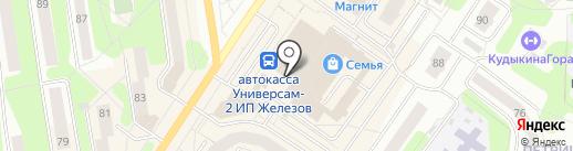 Облака на карте Березников