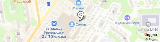 Текстюлия на карте Березников
