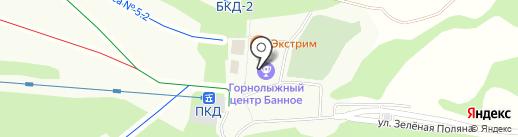 Банкомат, КУБ на карте Зелёной Поляны