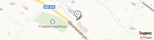 ВОСточка на карте Абзаково