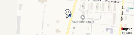 Янгельское М на карте Янгельского
