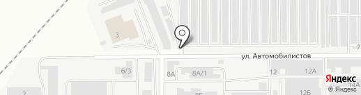 Алекстан на карте Магнитогорска