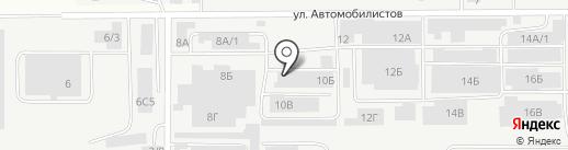 Магазин овощей и фруктов на карте Магнитогорска