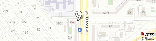 Детская больница №3 на карте Магнитогорска