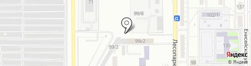 Автокар на карте Магнитогорска