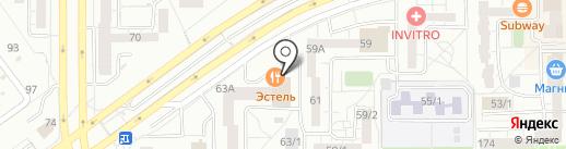 Эстель на карте Магнитогорска