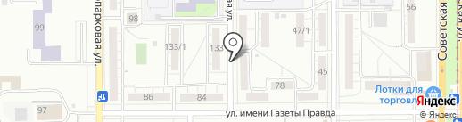 Синий на карте Магнитогорска