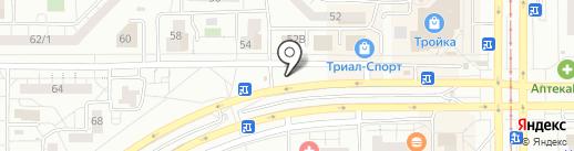 Автостоянка на карте Магнитогорска