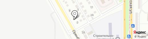 Шиномонтажная мастерская на Оренбургской, 4а на карте Магнитогорска