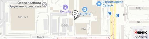 Строй Двор на карте Магнитогорска