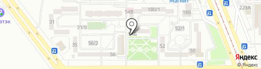 Капелька на карте Магнитогорска