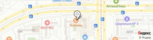 Subway на карте Магнитогорска