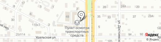 Регистрационно-экзаменационный отдел ГИБДД на карте Магнитогорска