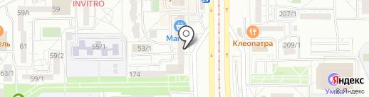 Мастерская по ремонту одежды №1 на карте Магнитогорска