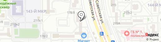 Салон безопасности на карте Магнитогорска