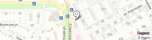 Три шурупа на карте Магнитогорска