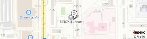 Московский психолого-социальный университет на карте Магнитогорска