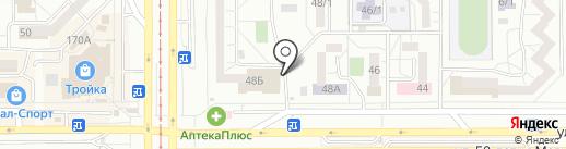 Школьный дворик на карте Магнитогорска