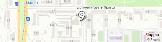 Монетка на карте Магнитогорска