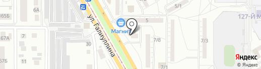 Пункт проката №1 на карте Магнитогорска