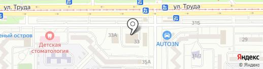 Сеть магазинов периодической печати на карте Магнитогорска