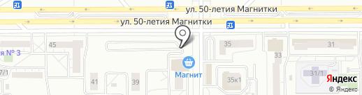 БИС на карте Магнитогорска