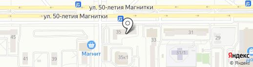 Синай на карте Магнитогорска