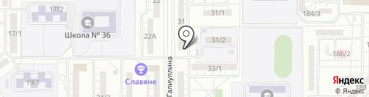 Жилищный кооператив №38 на карте Магнитогорска
