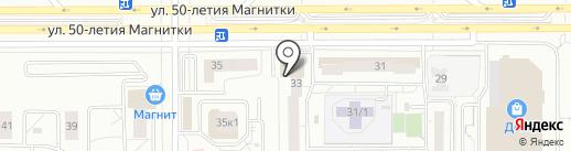 Ломбард Финанс на карте Магнитогорска