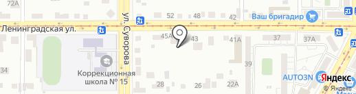 ЛЕНИНГРАДСКИЙ на карте Магнитогорска