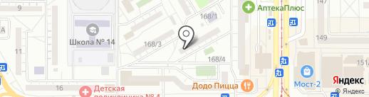 ПЕРВАЯ на карте Магнитогорска