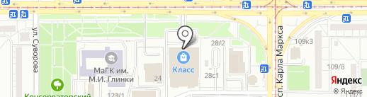 Магазин корейских салатов на карте Магнитогорска