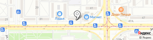 Добрынин на карте Магнитогорска