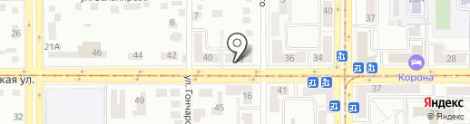 Артель на карте Магнитогорска