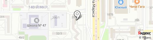 Мебельный остров на карте Магнитогорска