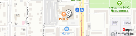 Радуга упаковки на карте Магнитогорска