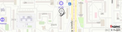 Автолига на карте Магнитогорска