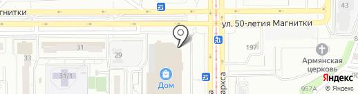 Зайка-покатайка на карте Магнитогорска