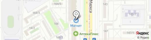 Мастерская по ремонту часов на карте Магнитогорска