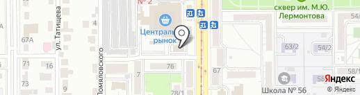 Магазин бензо и электроинструмента на карте Магнитогорска
