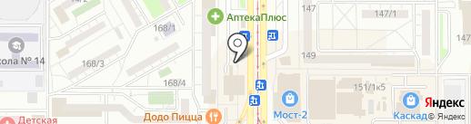 Триколор на карте Магнитогорска