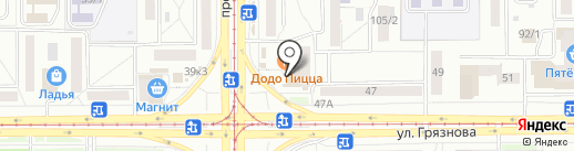 Центр оперативной полиграфии на карте Магнитогорска