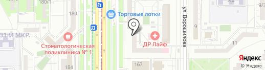 СОЗВЕЗДИЕ на карте Магнитогорска