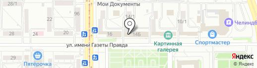 ГЕОФОРМАТ-М на карте Магнитогорска