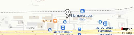 ЖеЛен на карте Магнитогорска