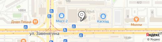 Киоск по продаже фруктов и овощей на карте Магнитогорска