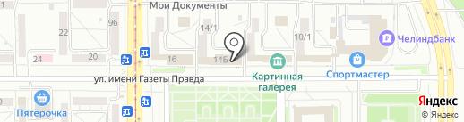 Прокуратура Правобережного района на карте Магнитогорска